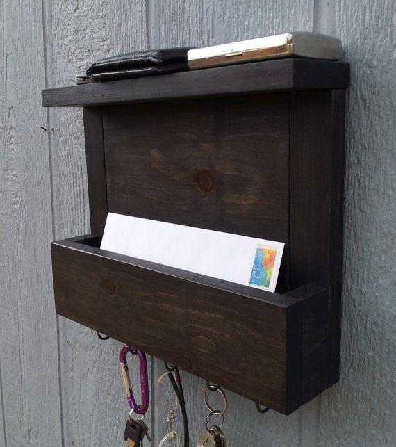 17 best images about key hook mail holder on pinterest shelves key rack and hooks - Mail holder and key rack ...