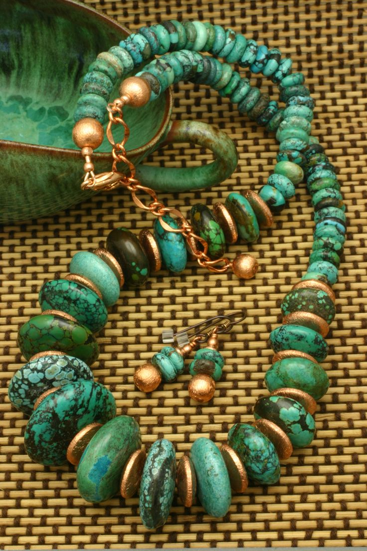 Turquoise and Copper. Always a great combination.