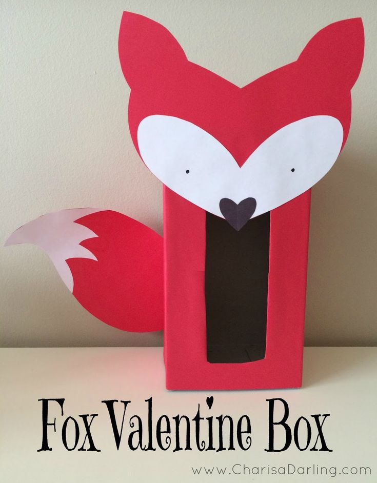 Fox Valentine Box   Charisa Darling