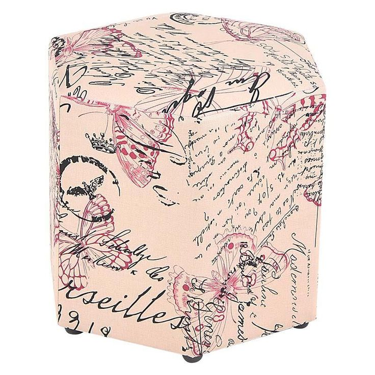 Lovely fabric #stool in beige & pink color! www.inart.com