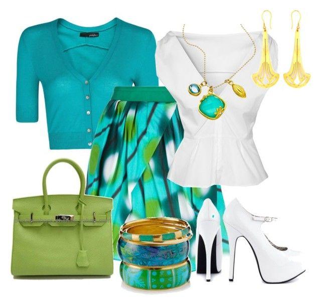 Faldas con Vuelo by outfits-de-moda2 on Polyvore featuring moda, GANT, MANGO, Eggs, Viva Bordello, Monsoon, Zoemou, Indulgems and Hermès