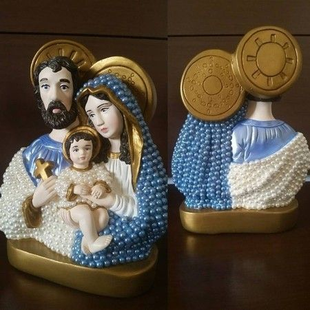 Sagrada Família com Pérolas - 30cm