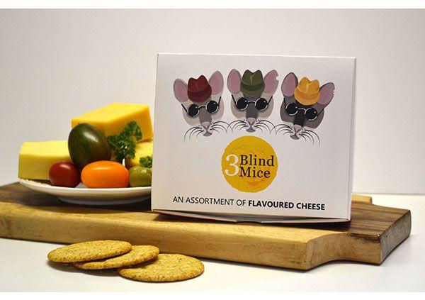 3 Blind Mice Cheese Packaging on Behance #packaging design