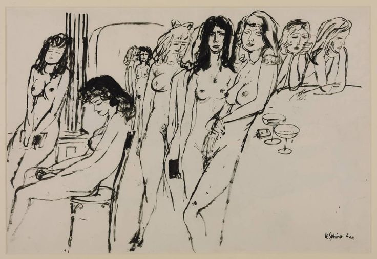 James Boswell 'Le Sphinx, 4 a.m. Verso: Three figure drawings', 1937 © The estate of James Boswell
