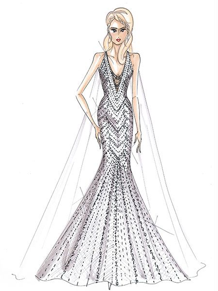 Designers Sketch What Upcoming Celebrity Brides Should