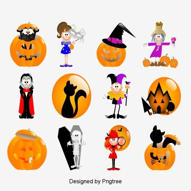 Simple Cartoon Halloween Design Pattern Halloween Pumpkin Lights