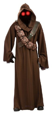 Star wars jawa costume Package contains hooded mask with light up eyes, robe, and double bandolier Officially licensed product