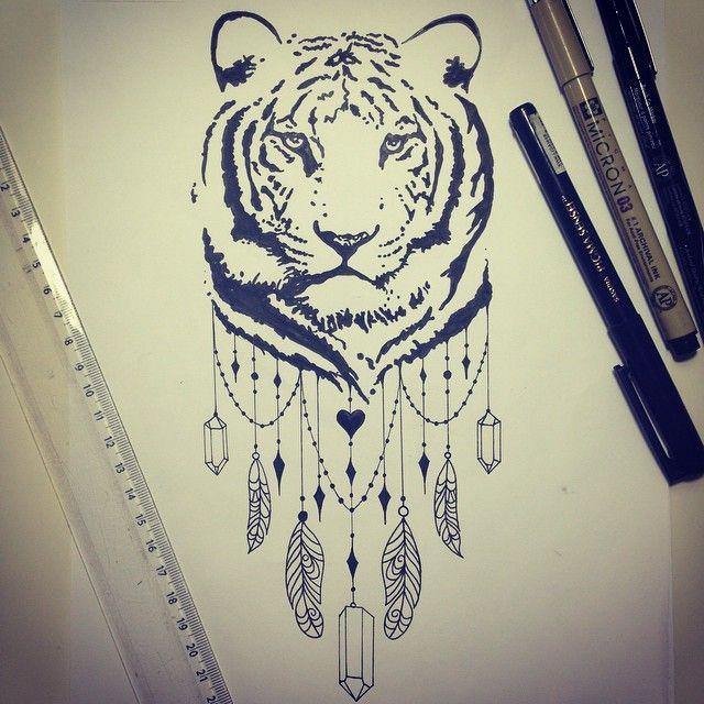 De volta ao trabalho! Tigre feito para a Julia!!  #tattoo #tatuagem #desenho…