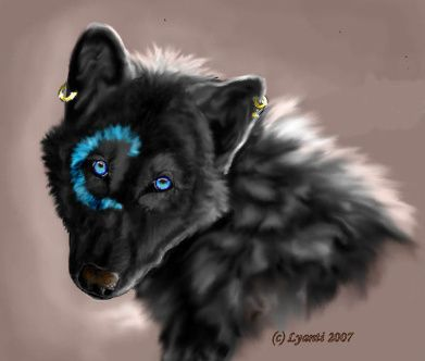 Light brown wolf with blue eyes - photo#2