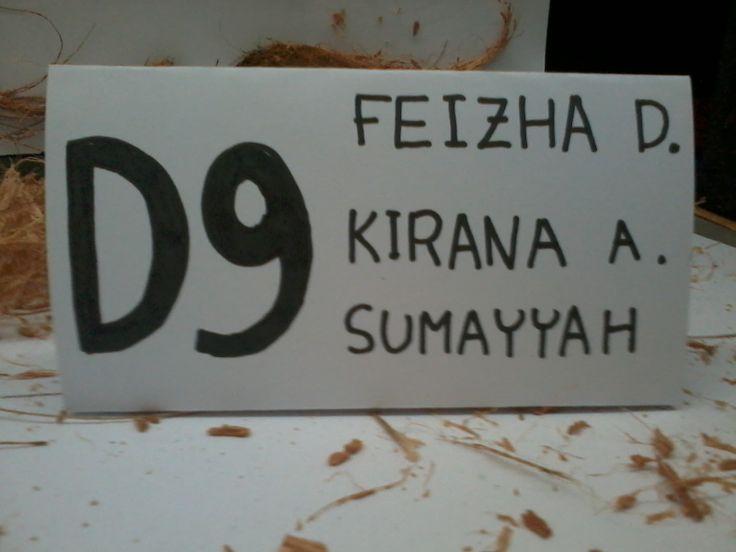 Kelompok D9: Feizha, Kirana, Sumayyah