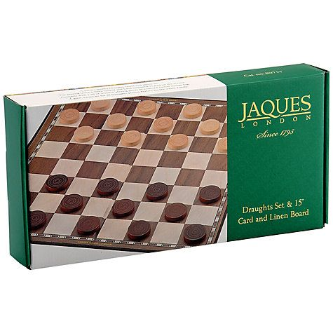 """Buy Jaques Draughts 15"""" Board Game Online at johnlewis.com"""