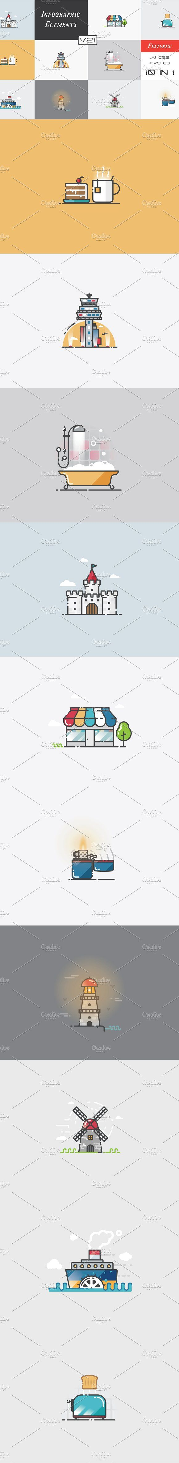 @newkoko2020 Infographic Elements (v21) by Infographic Paradise on @creativemarket #infographic #infographics #bundle #design #template #megabundle #bigbundle #presentation #vector #business #layout #creative #graph #information #visualization