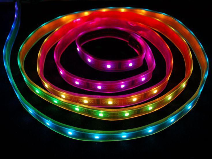 Digital RGB LED Weatherproof Strip - LPD8806 32 LED - (1m)