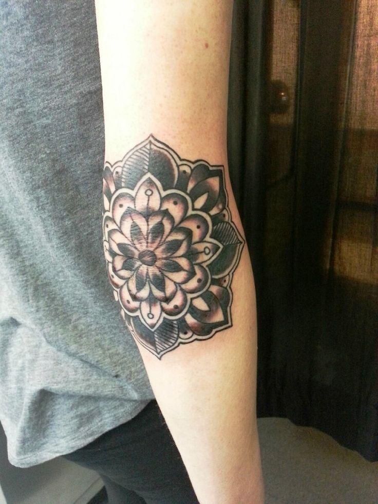 elbow mandala tattoo