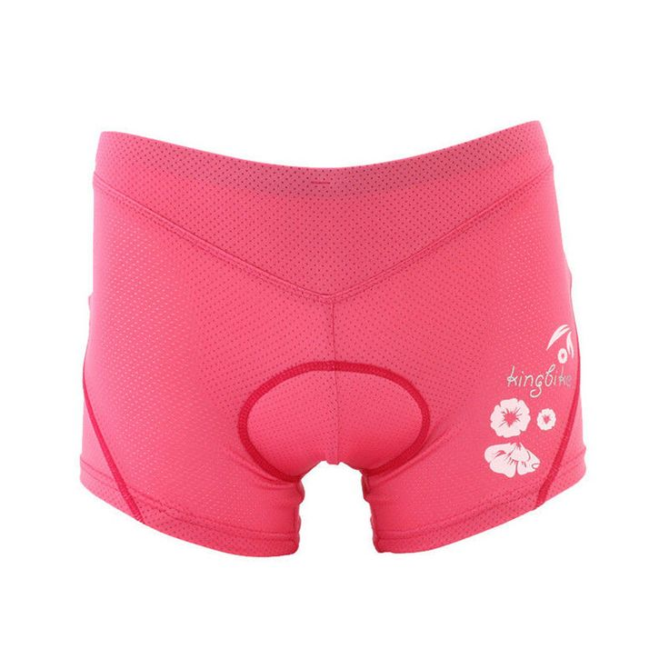 Summer Cool Women Cycling Bike Bicycle Underwear Shorts With Silicone Pad Pink #KingBike #LycraCyclingShorts