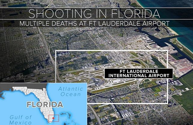Five killed in Ft Lauderdale airport shooting