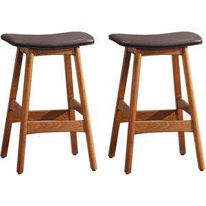 Mid-Century Modern Bar Stools in Dark Brown (pair)  sc 1 st  Pinterest & 21 best Piano stool ideas images on Pinterest | Piano stool ... islam-shia.org