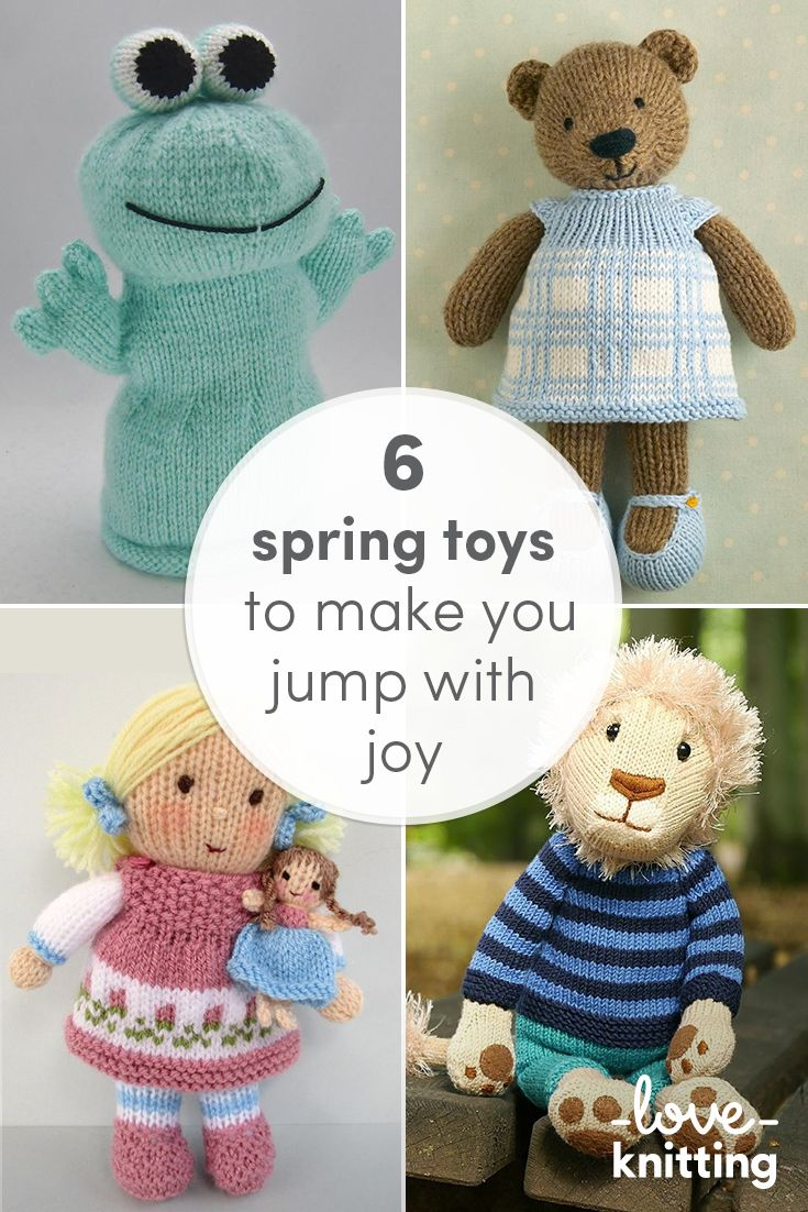 Knitting toys is great fun – watching all the parts come together to form a new little friend! Why not try out one of these six fantastic toy patterns for this spring?!