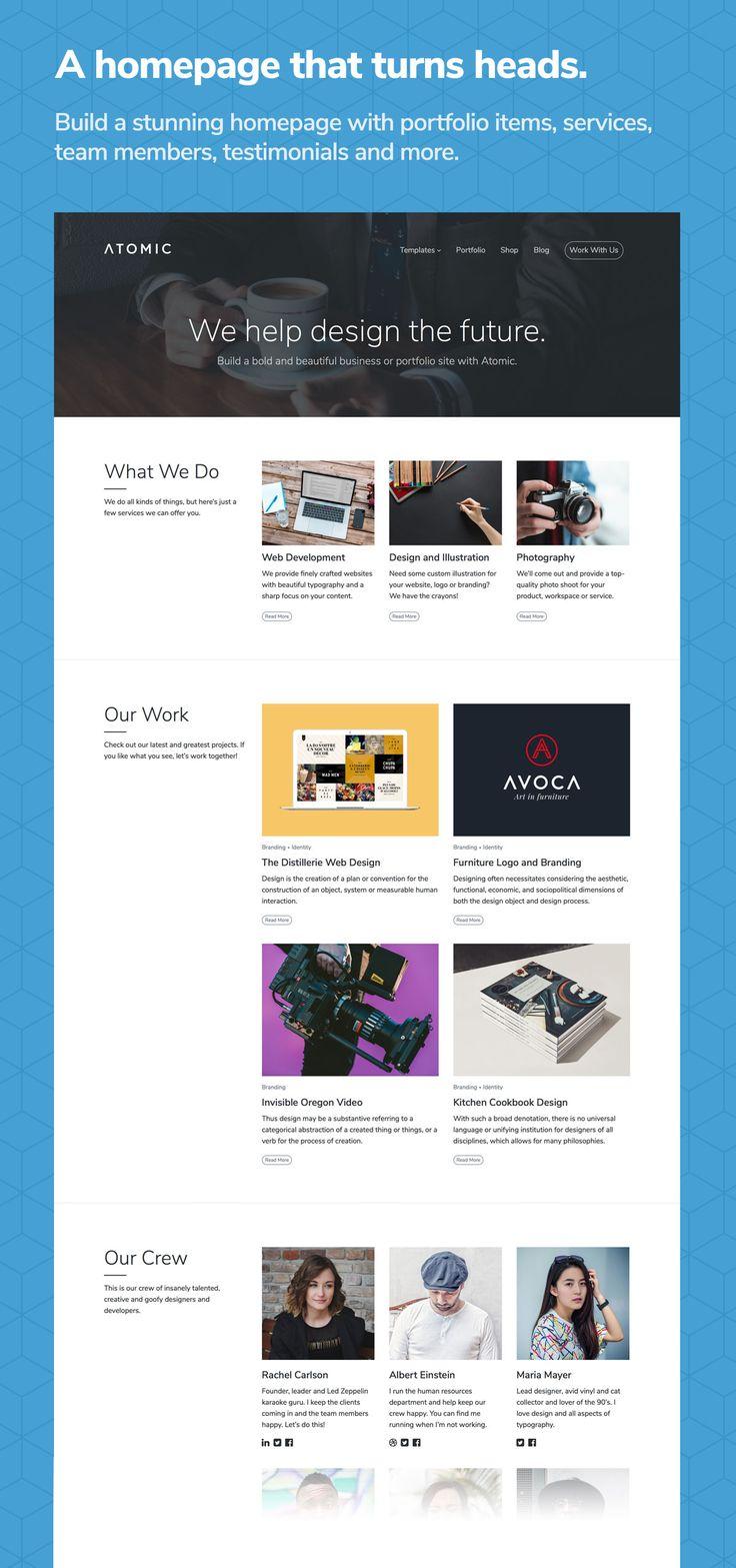Download Atomic – Bold Business and Portfolio WordPress Theme (Business)