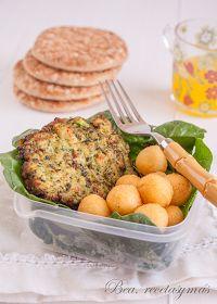 Hamburguesas de pavo y espinacas con patatas parisinas, por Bearecetasymás
