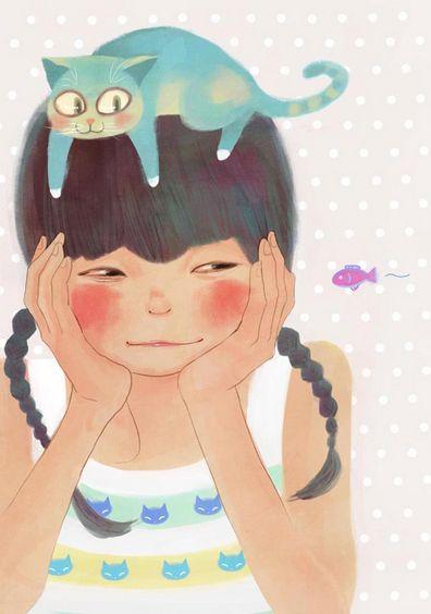 http://k-phenomen.com/2014/12/17/12-illustrateurs-coreens-que-vous-devriez-connaitre/ by Korean illustrator Tjsiu♥•♥•♥