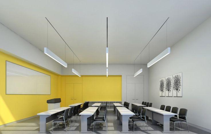 classroom interior gray and yellow walls yellow and gray combination
