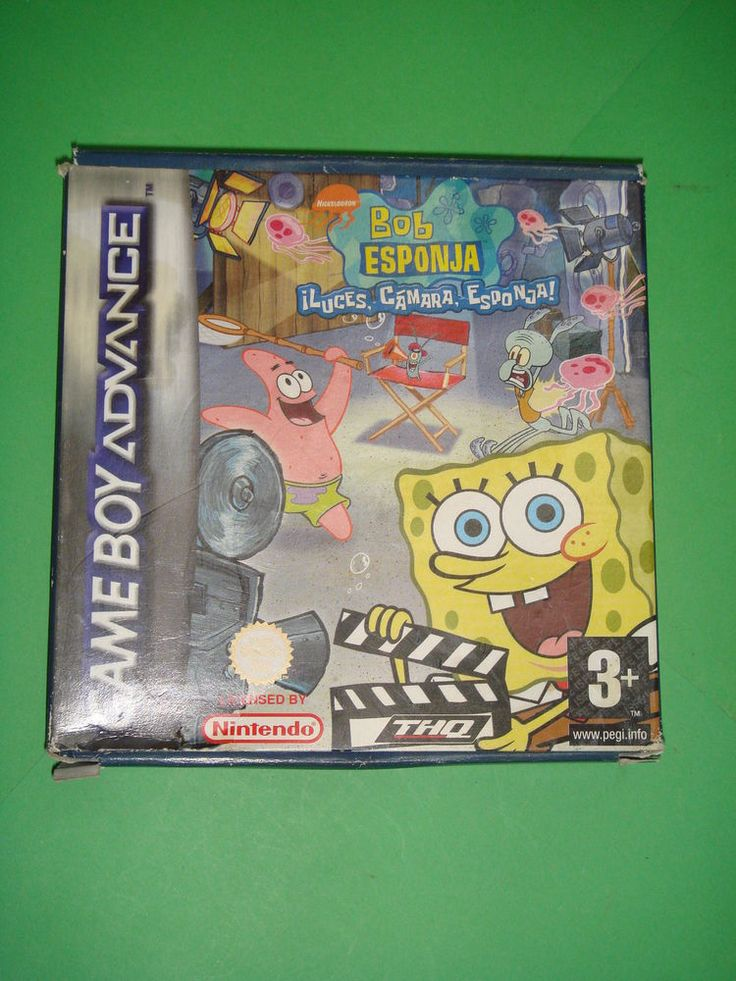 Juego Bob Esponja ¡Luces, camara, esponja! Game Boy Advance