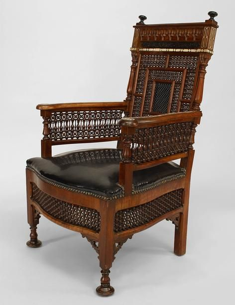 middle eastern moorish style arm chair with carved spindle u0026 ball design back with pearl u0026