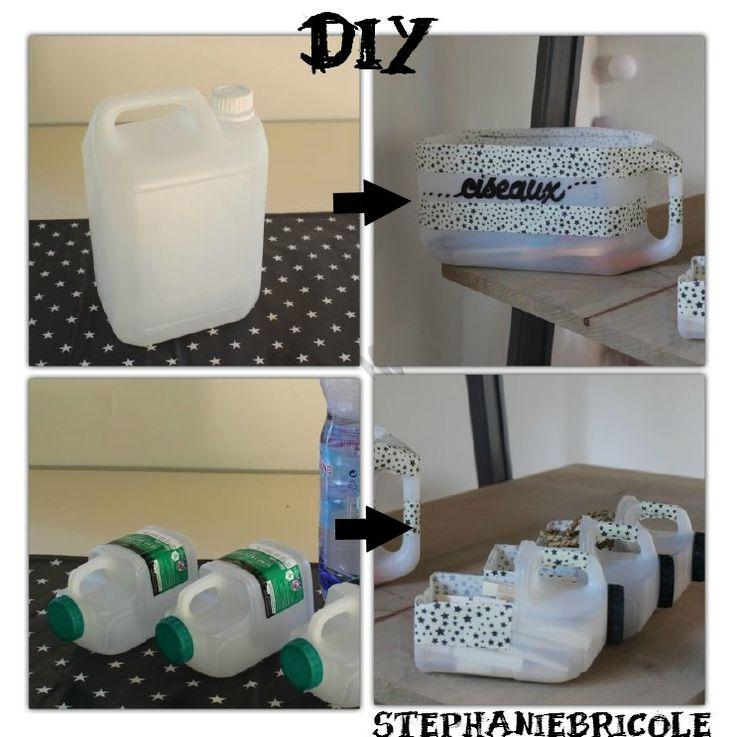 Comment faire des rangements avec des bidons en plastique Idée récup pour ranger…