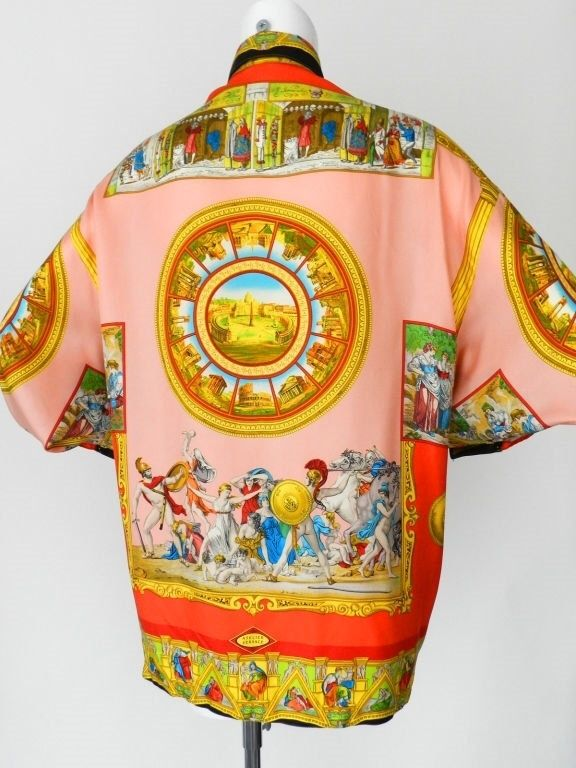 5795f396 vintage versace silk shirt for sale - Serafini Pizzeria