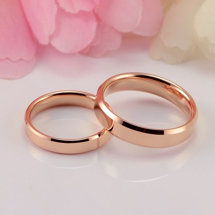 Plated Rose Gold Tungsten Gold Wedding Rings Couple Rings Lovers Gift - Couple Rings - Rings - Jewelry & Watches | Lower price - market86.com