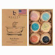Bathroom Shower Organic Natural Large Luxurious Vegan Bath Bombs Fizzy Gift Set