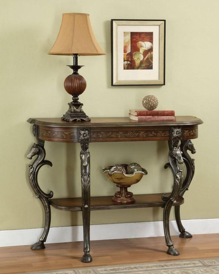 Powell furniture masterpiece demilune sofa hall console - Table vitroceramique 2 foyers ...