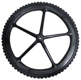 "RUBBERMAID COMMERCIAL PROD 20"" WHL Barrow Wheel > This product is easy to use Non-pneumatic Replacement wheelbarrow wheel for big wheel Carts"