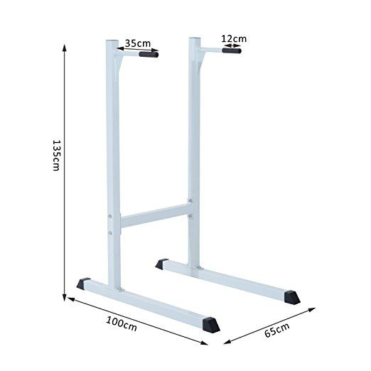 £41.00 HOMCOM Dip Station Stand Parallel Pull Push Up Bar Chest Bicep Triceps Training Home Gym Indoor Fitness Equipment (White): Amazon.co.uk: Garden & Outdoors