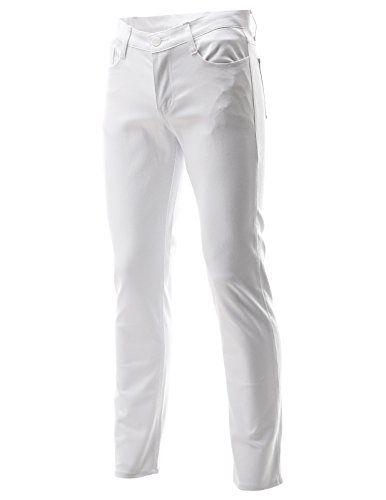 FLATSEVEN Mens Slim Fit Flat Front 5 Pocket Casual Twill Chino Pants Trousers (CH2000) White, L FLATSEVEN http://www.amazon.com/dp/B00NSMG9XY/ref=cm_sw_r_pi_dp_h2Qkub02RG3X0