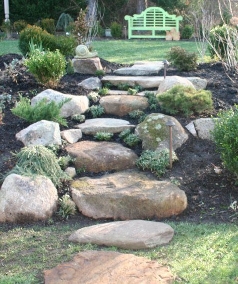 Backyard Steps Ideas: 12 Best Rock Steps Images On Pinterest