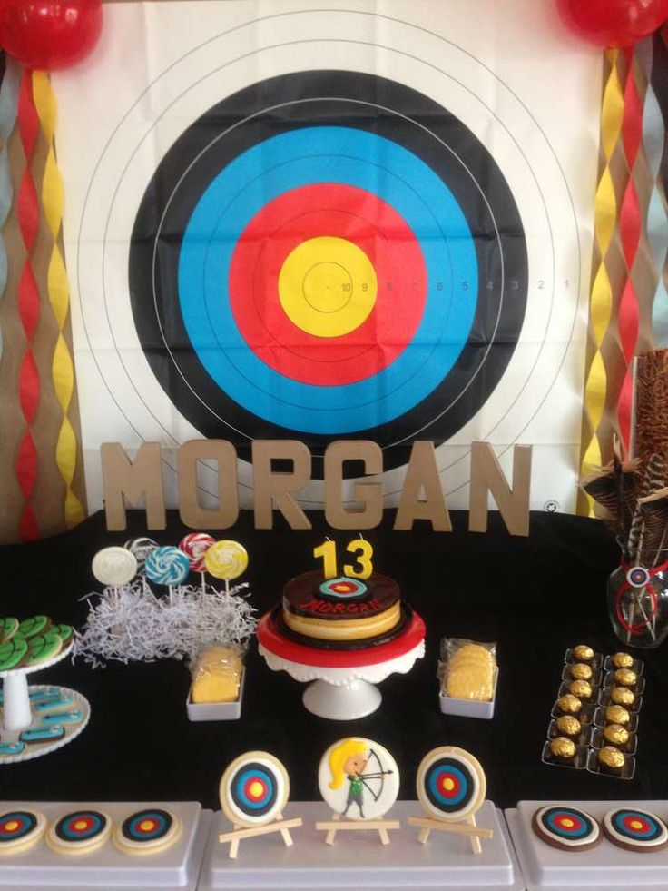Archery; Sports Birthday Party Ideas | Photo 21 of 32 | Catch My Party