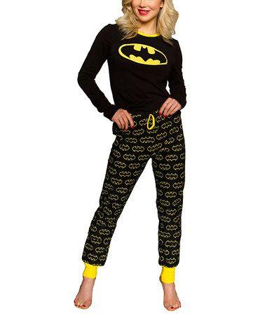 Look at this #zulilyfind! Black Batman Pajama Set - Women #zulilyfinds