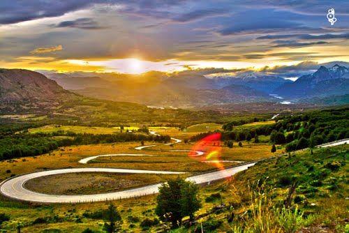 ___ NICE Sunset @ The Road To Cerro Castillo____