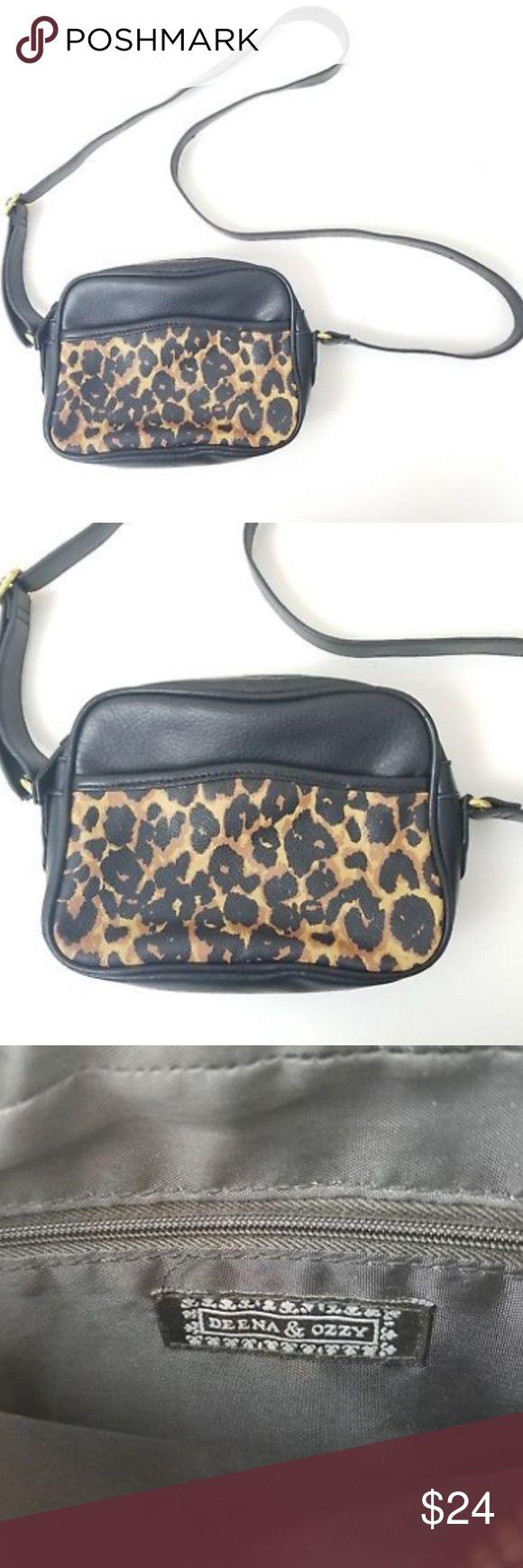Urban Outfitter's DEENA & OZZY Animal Shoulder BAG Urban Outfitter's DEENA & OZZY Animal Shoulder BAG   Adjustable Strap   Black  Zip around   EUC Deena & Ozzy Bags Crossbody Bags