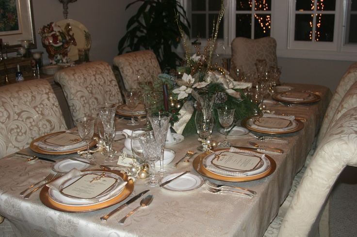 Dinner party full table setting college graduation pinterest
