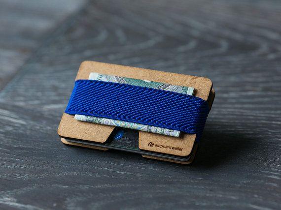 Dünne hölzerne Geldbörse, Kreditkarte Halter, Herren- und Damen Geldbörse, Holz minimalistisch und schlank, modernes Design Brieftasche N Brieftasche