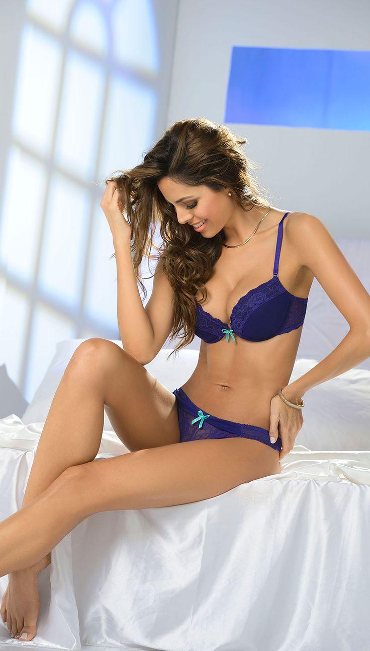 #ModaSexy #Carmel #Lingerie #Blue