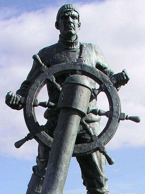 Merchant Navy Memorial, South Shields;  photo by grytr, .Both grandads from South Shields in the Merchant Navy