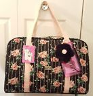 ♣ nwt LUV BETSEY  FLORAL WEEKENDER pink stripe ROSES QUILTED  /DUFFLE/TRAVEL Unbeatable! #pinkroses #pinkluv #luvbetsey http://j.mp/2pOV7zX