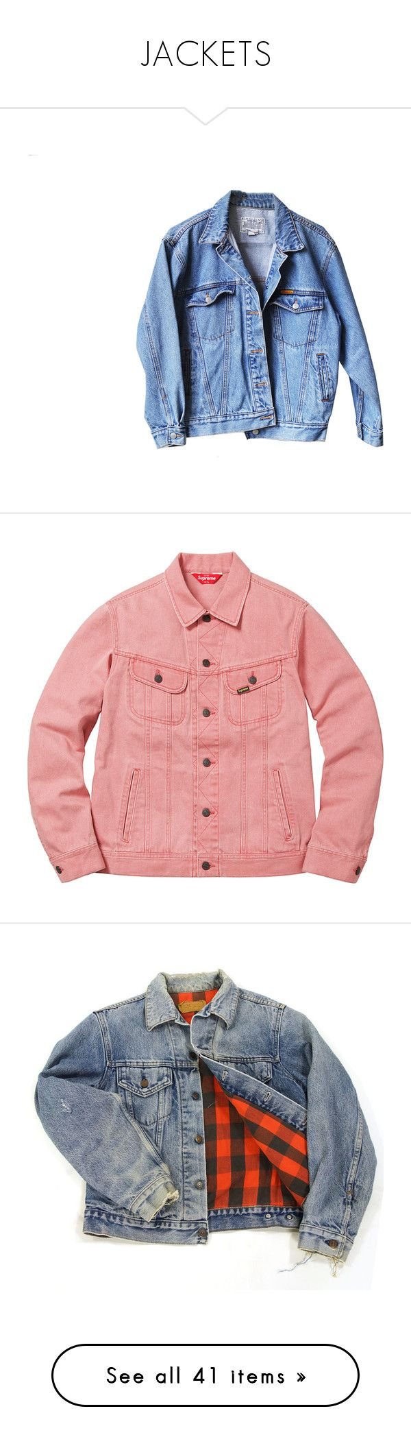"""""""JACKETS"""" by diamonddolll ❤ liked on Polyvore featuring outerwear, jackets, tops, denim jacket, boyfriend jacket, levi jacket, jean jacket, boyfriend jean jacket, flannel lined jean jacket and trucker jacket"""