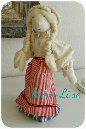 "Hime-Li ""Greta"" Rag dolls of recycled material."