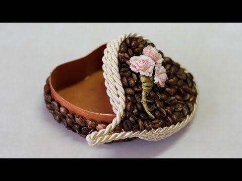 Шкатулка валентинка с кофейным декором. Мастер-класс | oblacco