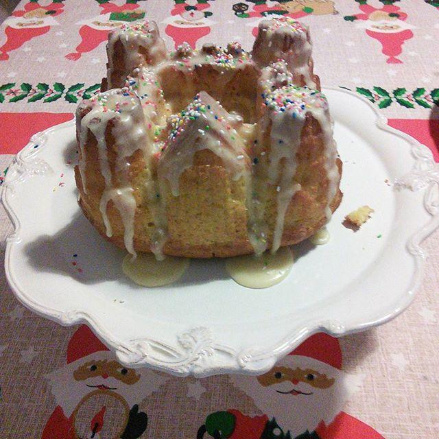 Christmas cake!❄⛄#lovebakeshare
